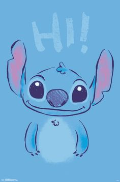Let the Lilo & Stitch - Hi from Disney take you away to a world of fairy tales. Travel to a world of dreams and fantasy with this incredible poster from the Lilo & Stitch collection. Lilo Stitch, Lilo And Stitch Quotes, Cute Stitch, Disney Phone Wallpaper, Cartoon Wallpaper Iphone, Cute Cartoon Wallpapers, Disney Drawings, Cute Drawings, Disney Art