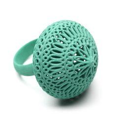 Lantern ring 3D Printed by .bijouets | Designed by MARIA JENNIFER CAREW-IT