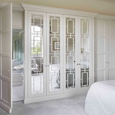 The Heritage Wardrobe Company is delighted to announce the launch of the new Imperial fitted wardrobe door design. Inspired by Britain's rich royal heritage. Fitted Wardrobe Doors, Fitted Wardrobe Design, Wardrobe Door Designs, Mirrored Wardrobe, Fitted Wardrobes, Frosted Glass Door, Glass Doors, Luxury Wardrobe, Luxury Mirror