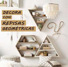 DECORA CON REPISAS GEOMETRICAS