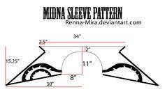 Midna Sleeve Pattern w/Decals by Renna-Mira.deviantart.com on @DeviantArt