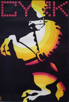 1969 CYRK Horse Poster by Witold Janowski  by OutofCopenhagen