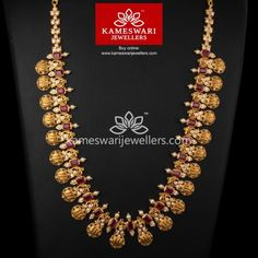 Buy necklaces online Square Ruby Highlight Ramparivar by Kameswari Jewelers Buy necklaces online Square Ruby Highlight Ramparivar by Kameswari Jewelers Ruby Necklace Designs, Jewelry Design Earrings, Beading Jewelry, Jewellery Designs, Jewlery, Gold Temple Jewellery, Real Gold Jewelry, Ruby Jewelry, India Jewelry