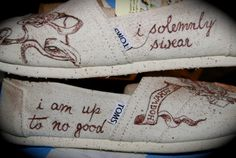 """I solemnly swear I am up to no good"" TOMS shoes inspired by Harry Potter"