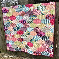 My Quilt Infatuation: Joel Dewberry Flora quilt, Baubles quilt pattern- pattern has NO curve sewing!