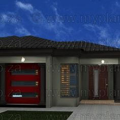 This Tuscan designed Single Storey 3 Bedroom House Plan Boasting Full Master Suite including walk-in closet, 2 Standard Bedrooms, Bathroom, Open Plan Living Area including Kitchen with Scullery, Covered Patio and Single Garage My Building, Building Plans, Architect Fees, 6 Bedroom House Plans, Tuscan House Plans, House Plans South Africa, Home Design Plans, Open Plan, Double Garage