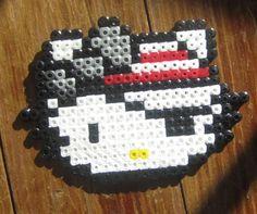 Pirate Hello Kitty  Made In Perler beads