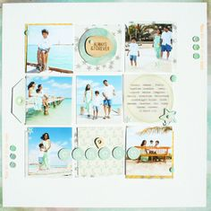 #papercraft #scrapbook #layout. Cancun - Two Peas in a Bucket
