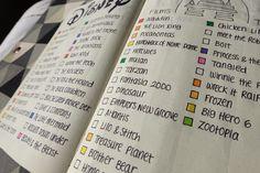 Bullet Journal - Disney film tracker