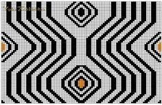 Crochet Chart, Filet Crochet, Crochet Stitches, Knit Crochet, Knitting Charts, Knitting Patterns, Mochila Crochet, Tapestry Crochet Patterns, Pixel Pattern