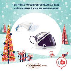 la centrale vapeur Perfect Care et le défroisseur à main Steam & Go de PHILIPS :  - http://www.maginea.com/fr/fr/c2386/p201310210050/defroisseur+a+main+steam+go+1000+w+gc310+55/  - http://www.maginea.com/fr/fr/c2386/p201304150106/centrale+vapeur+perfectcare+6+5+bars+gc9241+02/