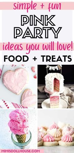 Pink Themed Party Food and Decor Pinkalicious + Perfect Pink Party Ideas. I'm sharing some pretty party ideas today for your pretty pink parties. If you have a girly girl or are planning a pretty pink baby shower...you will love these fun and festive pink party decorations and food ideas! Birthday Party Treats, 1st Birthday Party For Girls, Pink Birthday, Pink Party Decorations, 1st Birthday Party Decorations, Raspberry Meringue, Pink Popcorn, Pink Starburst, Pink Foods