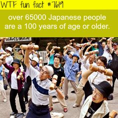Japan population that is over 100 years old - FACTS