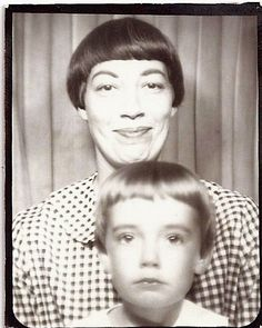 photo booth...hey mom...does everybody in your family have super short bangs? I am familiar with this line of thinking.  Get the bangs really short so it will last really long....save a few dollars but make the kids look freaky.