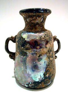 Roman Glass Vessel - X.0611 Origin: Eastern Mediterranean Circa: 1 st Century AD to 3 rd Century AD