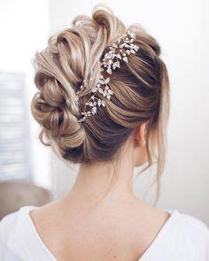 Bridal updo wedding hairstyle inspirationBridal updowedding hairstyle inspirat #haircareaccessories