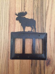 Moose Triple GFI / Rocker Switch Plate Cover by OLHF on Etsy