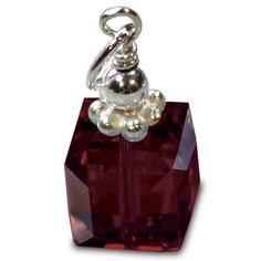 Large January Swarovski Crystal Garnet Birthstone Pendant