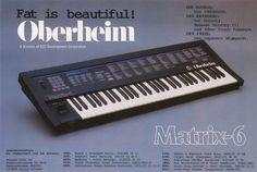 Oberheim Matrix-6 Anzeige 1986