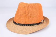 Johnny Straw Fedora - $29.95 - The fedora just got a whole lot hipper thanks to the funky Johnny straw fedora!  Add a pop of colour and complete your little mans outfit this summer with this uber cool boys sunhat - features leather band applique! #littlebooteek #kids #boys #fashion #accessories