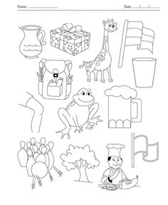 Worksheets and Activities for the Letter G Central Cubs