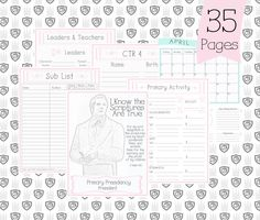 Primary Presidency Planner 2016 Primary Planner by JewellLeeStyle