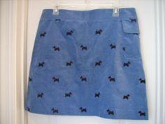 Lilly Pulitzer Skirt Sz 12 Scottie Dogs Velveteen Cute | eBay