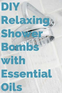DIY Shower Bombs with Essential Oils. No time for a bath? Make the easy shower bombs and relax in your shower instead.