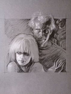 Frédéric Bennett works as a concept artist at Eidos Montreal. Art Sketches, Art Drawings, Neon Nights, Frederic, Toned Paper, Blade Runner, Art Reference, Fantasy Art, Book Art