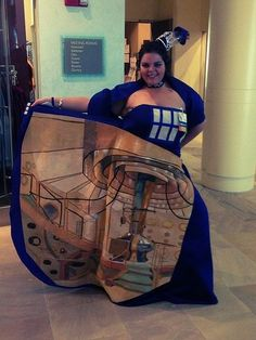 TARDIS dress, hand painted on the inside too! This woman is awesome!