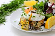Salmon and Cod Fish Cakes by Peachy Palate