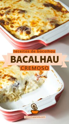 Fish Recipes, Seafood Recipes, Cod Fish, Portuguese Recipes, Diy Food, Carne, Macaroni And Cheese, Main Dishes, Brunch