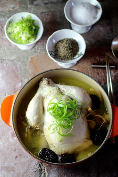 Samgyetang삼계탕 A Rejuvenating Korean Soup Whole Chicken Stuffed with Sweet Rice, Pine Nuts, and Garlic In a Broth Simmered with Ginseng, Ginger, Red Dates, and Gingko Nuts At first it might seem counter-intuitive to serve a pot of hot... Read more