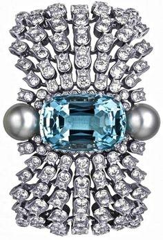 Cartier south sea pearls aquamarine diamonds.saved by Antonella B.Rossi