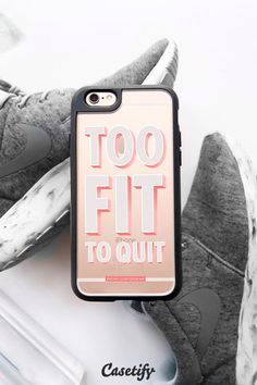 Too fit to quit. Click through to check out our iPhone 6 #workout collection >>> https://www.casetify.com/collections/workout#/ | @casetify
