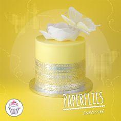Tutorial Paperflies, cake