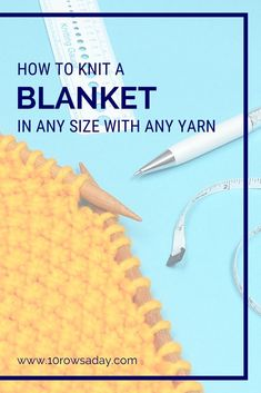 How to Knit Blankets and Scarves Without Pattern | 10 rows a day Beginner Knit Scarf, Beginner Knitting Patterns, Knitting Help, Easy Knitting Projects, Knitting For Beginners, Knitting Stitches, Knitting Ideas, Crochet Projects, Diy Projects