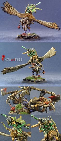 Wood Elves Lord on Great Eagle