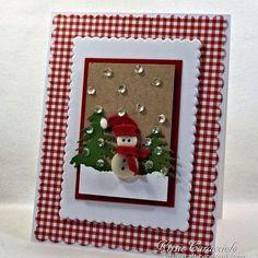 Button Snowman #handmadecards #handmadechristmascards #cards #snowmancards