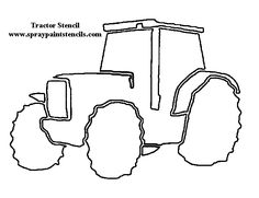 tractor template to print - recycle symbol pattern use the printable outline for