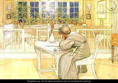 """The Evening Before the Journey to England"" by Carl Larrson"