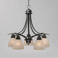 Cascadia Lighting Avalon 5-Light Oil-Burnished Bronze Chandelier