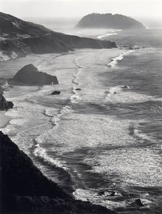Point Sur, Storm by Ansel Adams