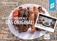 """Auch als """"Sechs auf Kraut"""" haben sich die RTG-Mitarbeiter ablichten lassen. Bild: Regensburg Tourismus GmbH."""