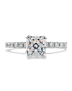 Hearts on fire engagement ring #TheKnot #DreamEngagementRing