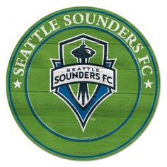 """19.75"""" Seattle Sounders Team Round Wood Sign - Officially Licensed - Seattle Sounders - MLS - Sports Flags - Product Type Flags A' Flying"""
