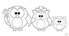 Owl Family coloring page from Owls category. Select from 23049 printable crafts… Minion Coloring Pages, Animal Coloring Pages, Coloring Pages To Print, Free Printable Coloring Pages, Free Coloring Pages, Coloring Books, Coloring Sheets, Mothers Day Coloring Pages, Family Coloring Pages