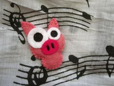 Bejb the cute piggy Felt brooch by mirkajakabova on Etsy