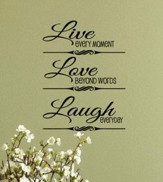 WALL DECAL 12X18 Live Laugh love