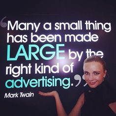 """#Repost @annavitals ・・・ """"Many a small thing has been made LARGE by the right kind of advertising."""" - Mark Twain  #Sales #business #marketing #money #selling #motivation #goals #inspiration #amazing #cool #entrepreneur #entrepreneurship #startup #photooftheday #smallbusiness #tweegram #quoteoftheday #TheCzarConomist #TakeTheLeadInStyle #consulting #nigeria #lagos #abuja #portharcourt #fashion #africa #tagsforlikes #webstagram #mindyourmarket"""
